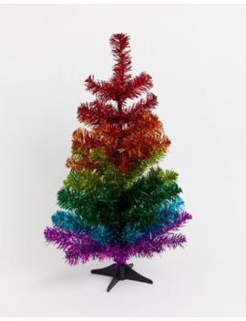 Árbol De Navidad Con Diseño Arcoíris De Unicornio De 2 Pies De Paperchase by Paperchase