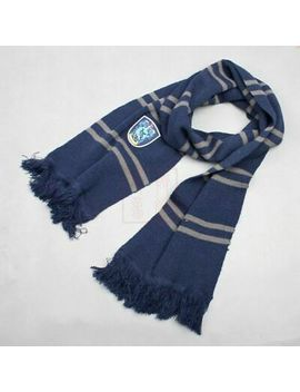 Harry Potter Thicken Wool Knit Scarf Wrap Warm Soft Costume Cosplay Tool Blue by Unbranded