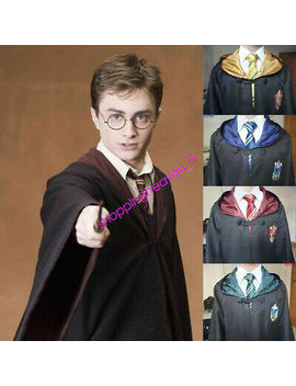 Hot Harry Potter Gryffindor/Sly<Wbr>Therin/Hufflep<Wbr>Uff/Ravenclaw Adult Cloak Cosplay by Unbranded