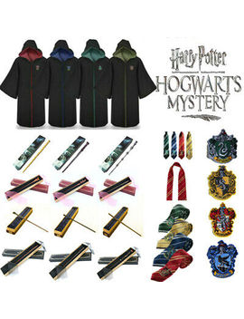 Harry Potter Series Gown Cloak Scarf Magic Sorcery Wand Cosplay Suit Costume New by Unbranded