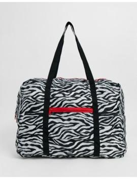 Bolso De Viaje Plegable Con Estampado De Cebra De Asos Design by Asos Design