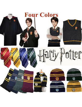 Harry Potter Vest Tie Scarf Set Gryffindor Sweater School Uniform Costume Gift H by Ebay Seller