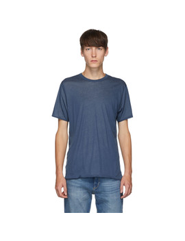 Reversible Blue & Grey Short Sleeve T Shirt by Rag & Bone