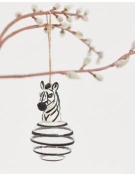 Bola De Navidad Con Diseño De Cebra Lujoso De Sass &Amp; Belle by Sass & Belle