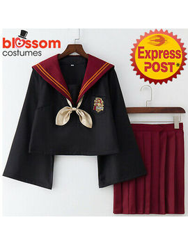 K833 Harry Potter Gryffindor Jk Japanese Uniform Academy Womens Cosplay Costume by Blossom Costumes