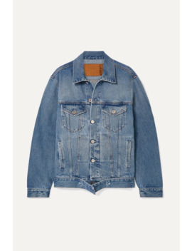 Distressed Denim Jacket by Vetements