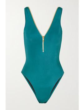 Lea Zip Detailed Swimsuit by Oye Swimwear