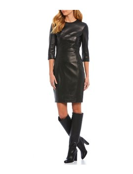 Luxury Collection Abigail Genuine Leather Dress by Antonio Melani
