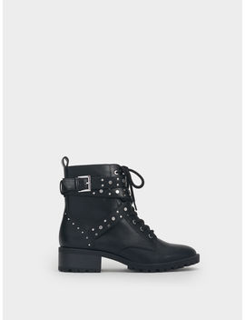 Studded Military Boots by Parafois