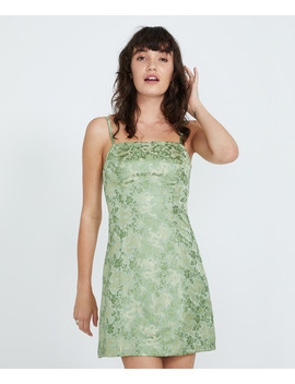 Lola Jacquard Panelled Dress Green by Au