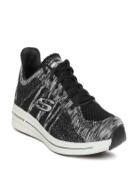 Men Black & Grey Burst 2.0 Smeeton Woven Design Sneakers by Skechers
