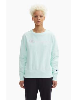 Contrast Script Logo Reverse Weave Sweatshirt by Champion