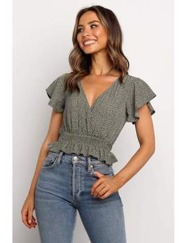 Frenchy Top   Olive by Petal & Pup