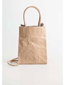 Kırışık Görünümlü çanta by Mango