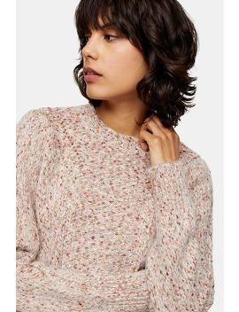 Knitted Frill Neck Jumper by Topshop