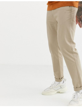 Pull&Bear – Join Life – Elegante, Enge Chinos In Beige by Asos
