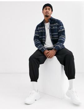Pull&Bear – Join Life – Blau Gemustertes Hemd by Asos