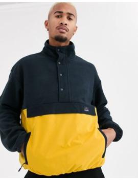 Pull&Bear – Join Life – Polar Jacke Mit Druckknöpfen Und Farbblock Design In Gelb by Asos