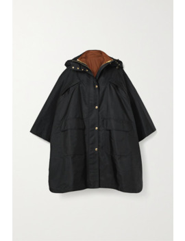 Oversized Hooded Shell Poncho by Burberry