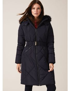 Lacey Long Fur Lined Puffer by Phase Eight