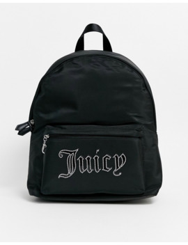 Juicy Couture Logo Backpack In Black Stud by Juicy Couture