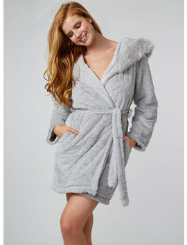 Snow Queen Dressing Gown   Grey Mix by Bouxavenue