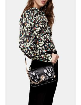 Coleen Black Quilted Cross Body Bag by Topshop