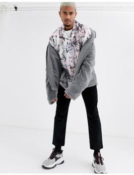 Asos Design Regular Shirt In Crumpled Print by Asos Design