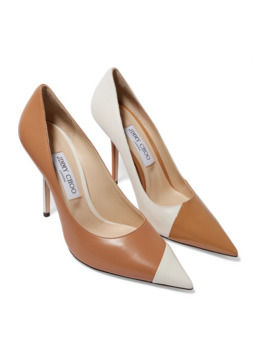 Love 100 Two Tone Leather Pumps by Jimmy Choo