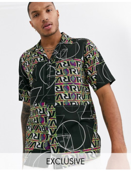 Reclaimed Vintage Patchwork Rave Print Shirt by Reclaimed Vintage Inspired