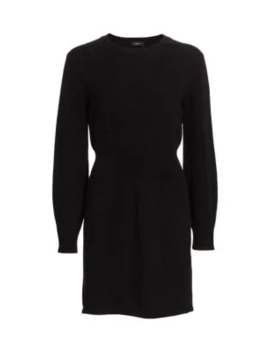 Rib Waist Wool & Cashmere Dress by Theory
