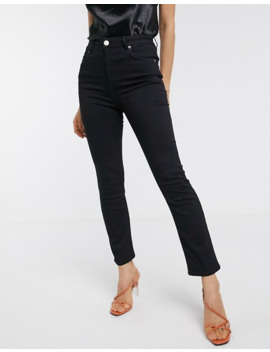 Asos Design Super High Rise Sculpting 'sassy' Cigarette Jeans In Black by Asos Design