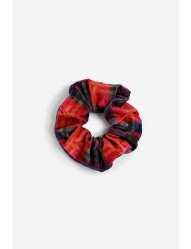 **Velvet Check Scrunchie by Topshop