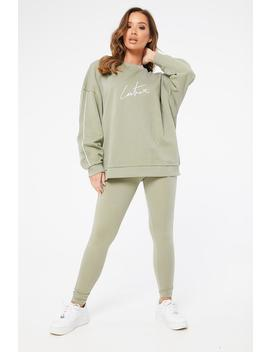 Essential Piped Oversized Sweater by Couture Club