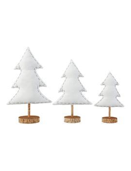 Holiday Time White Table Top Tree Christmas Decorations, Set Of 3 by Holiday Time