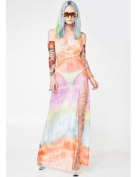 Maxi Mesh Beach Dress by Jaded London