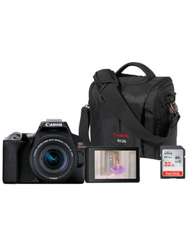 Canon Rebel Sl3 Dslr Camera With 18 55 Lens, Memory Card & Bag by Best Buy