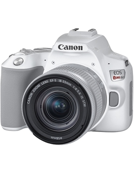 Canon Eos Rebel Sl3 Dslr Camera With 18 55mm Lens (White) (Open Box) by Best Buy