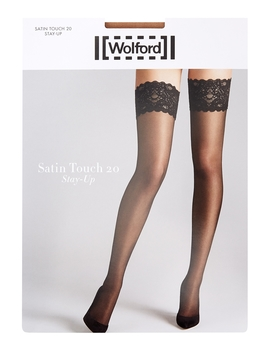 Satin Touch Sand 20 Denier Hold Ups by Wolford