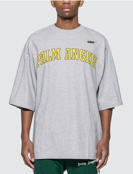 New College Logo Oversized T Shirt by Palm Angels