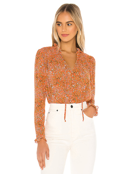 X Revolve Lela Blouse In Coral Combo by Free People
