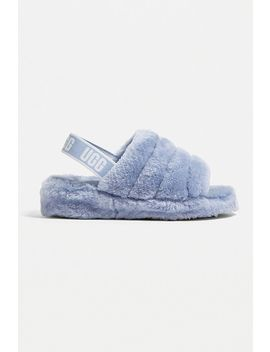 Ugg Fluff Yeah Blue Slide Sandals by Ugg