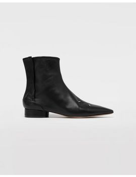 4 Stitches Leather Ankle Boots by Maison Margiela