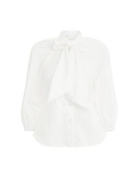 Espionage Bow Shirt by Zimmermann