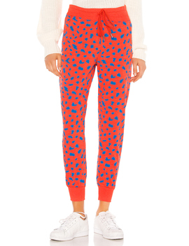 Abstract Dots Tapered Sweatpants by Sundry