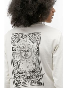 Uo Solar Wonder Cropped Long Sleeve Skate T Shirt by Urban Outfitters