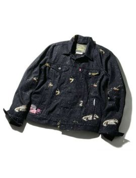 Star Wars X Levi's Trucker Jacket Galaxy Aop Mens M Denim Jeans by Levi's