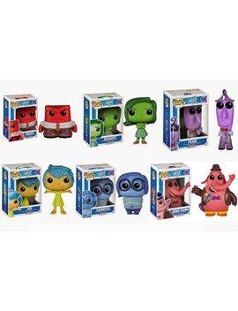 Fun Ko Pop Disney/Pixar: Inside Out Set Of 6: Anger, Sadness, Joy, Fear, Disgust, And Bing Bong by Funko
