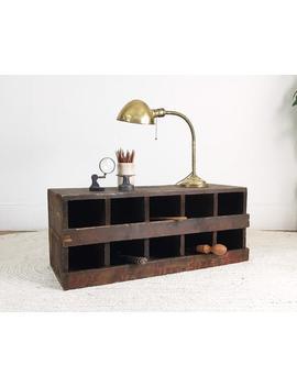Wood Cubbies,Industrial Storage,Vintage Wood Crate,Wood Storage Box,Hardware Store Display,Parts Bins,Craft Organizer,Storage Crate by Etsy