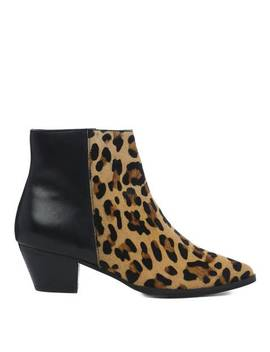Leopard & Black Planne Ankle Boot by Dune London